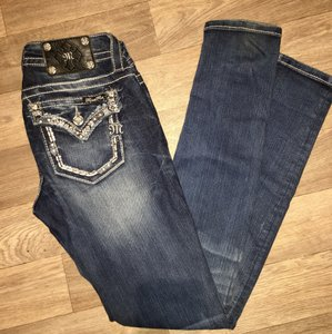 Miss Me skinny pants 26 medium wash rhinestone blue jeans Skinny Jeans