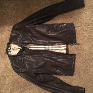 Burberry Leather Quilted Brown Leather Jacket