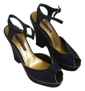Ralph Lauren Collection Navy Blue Wedges