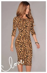 Next Level Dress short dress Animal Print on Tradesy