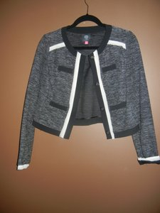 Vince Camuto black tweed Blazer