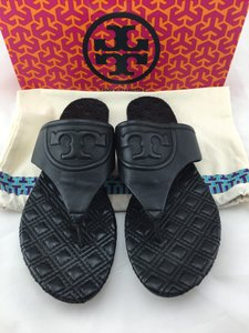 Tory Burch Miller Flemming Black Sandals