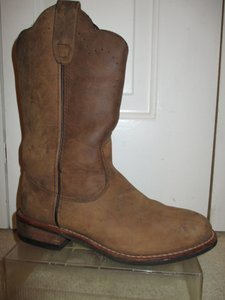 Red Head Leather Western Roper brown Boots