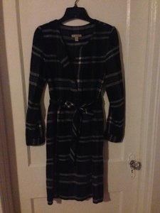 Burberry Brit Plaid Longsleeve Dress