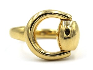 Gucci Gucci Horse Bit Ring 18 Karat Yellow Gold Size 6.5