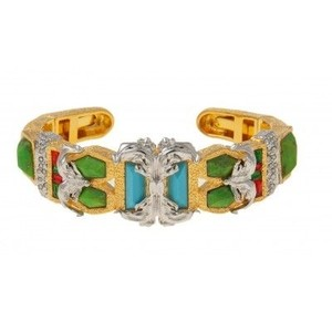 Alexis Bittar Alexis Bittar Pave Accented Gold Small Baroque Hinge Bracelet