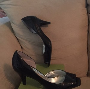 Gianni Bini Black Patent Croc Pumps