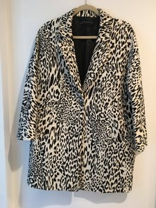 Zara cream and black leopard Jacket