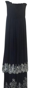 Navy with silver Maxi Dress by TAJ by Sabrina Crippa