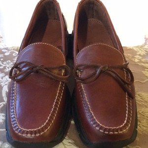 Mens Cole Haan Country Tobacco Brown Flats