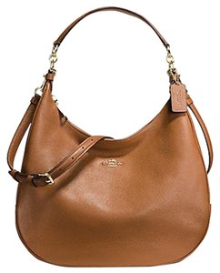 Coach F38259 Leather Khaki Hobo Bag