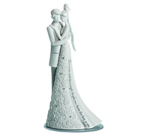 Forever Wedding Cake Topper Cake Topper Features Bride And Groom Hugging Forever Wedding Keepsake Cake Topper