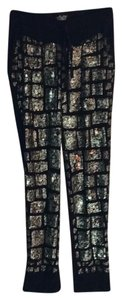 Babakul Relaxed Pants Black and gold