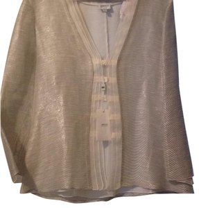 Armani Collezioni Button Down Shirt Gray & cream