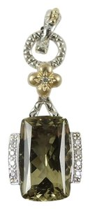 Barbara Bixby Barbara Bixby Sterling Silver 18K Gold Olive Quartz Diamond Enhancer