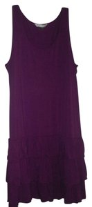 Peter Nygard short dress Purple Tiered Frilly Stretchy on Tradesy
