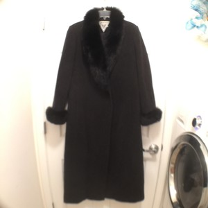 Marvin Richards Wool Real Fur Fox Fur Fur Trench Coat