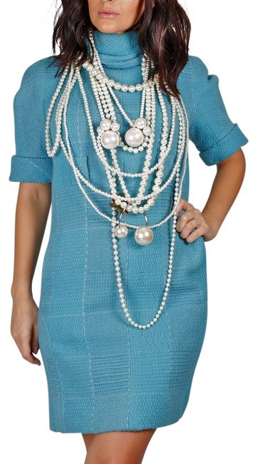 Preload https://img-static.tradesy.com/item/19624940/chanel-turquoise-07a-tweed-knee-length-cocktail-dress-size-8-m-0-3-650-650.jpg