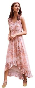 Anthropologie short dress Pink Embroidered Good In Comfortable Great Material on Tradesy