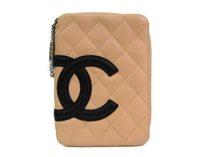 Chanel Chanel Ligne Cambon Lambskin Travel Jewelry Cosmetic Bag in Box