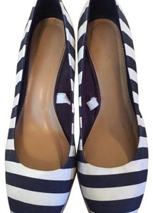 Merona Stripes, Navy and white Wedges