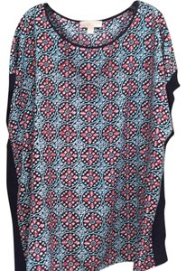 MICHAEL Michael Kors Top Navy, teal, white, pink pattern