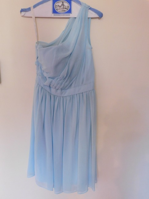 Item - Light Blue Chiffon 477 Formal Bridesmaid/Mob Dress Size 4 (S)