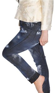 Chanel Distressed Straight Leg Jeans-Distressed