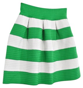 Vintage Green And White Mini Skirt