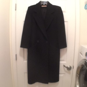 Perry Ellis Wool Long Vintage Trench Coat