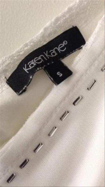 Karen Kane Lacey Strap With Silver Accents Top white