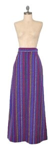 Other Vintage Bohemian Boho Mexican Blanket Wool 1960s Maxi Skirt