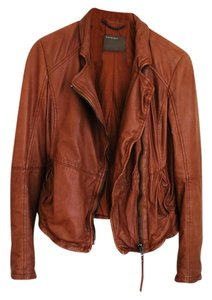 Muubaa Burnt Sienna Leather Jacket