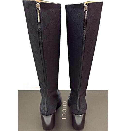 Gucci Gg High Classic Timeless Office Casual Black Logo Nero Boots