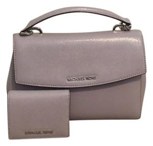 Michael Kors Small Leather Satchel in lilac