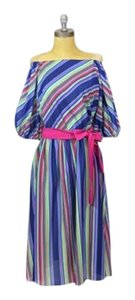 Other short dress Vintage Striped Belted 1970s Multi-color on Tradesy
