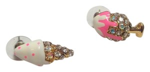 Betsey Johnson Betsey Johnson Icecream Sunday & Cone Stud Earrings J2933