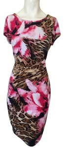 CACHE Designer Dress Size 6 Small S Floral Sundress Career Formal Pink White 4 8 Dress