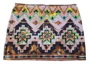 Express Aztec Mini Skirt Sequin Skirt