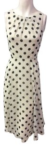 ELIZA J Designer Dress Size 4 Small S 2 6 Polka Dot Black Sundress Formal White Dress