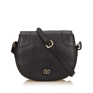 Valentino Black Leather Others Shoulder Bag