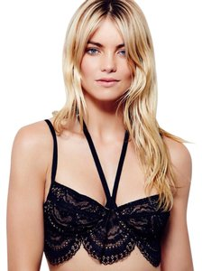 For Love & Lemons Lace Bralette Festival Top Black
