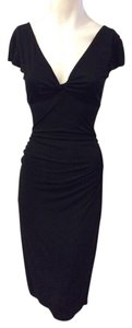NICOLE MILLER Designer Dress Size 2 XS Extra Small Sundress Formal 0 4 S Black Dress