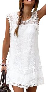 short dress White Clothings Jewelry Handbag on Tradesy