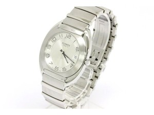 Herms Hermes Stainless Steel Datejust Mid Size Men's Watch in Box