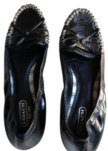 Coach Ballerina Loafers Black Flats