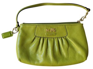 Coach Madison Wristlet in grass green