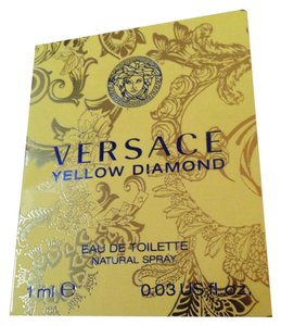 Versace 3 X Versace Yellow Diamond Eau de Toilette EDT Fragrance Sample Women