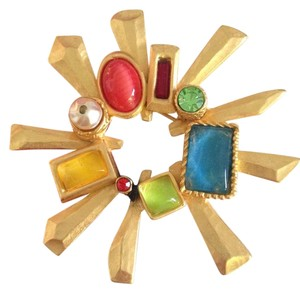 Christian Lacroix Christian Lacroix Vintage jeweled radiant sun burst brooch