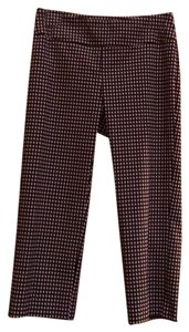 70s Up Capris Black and white check